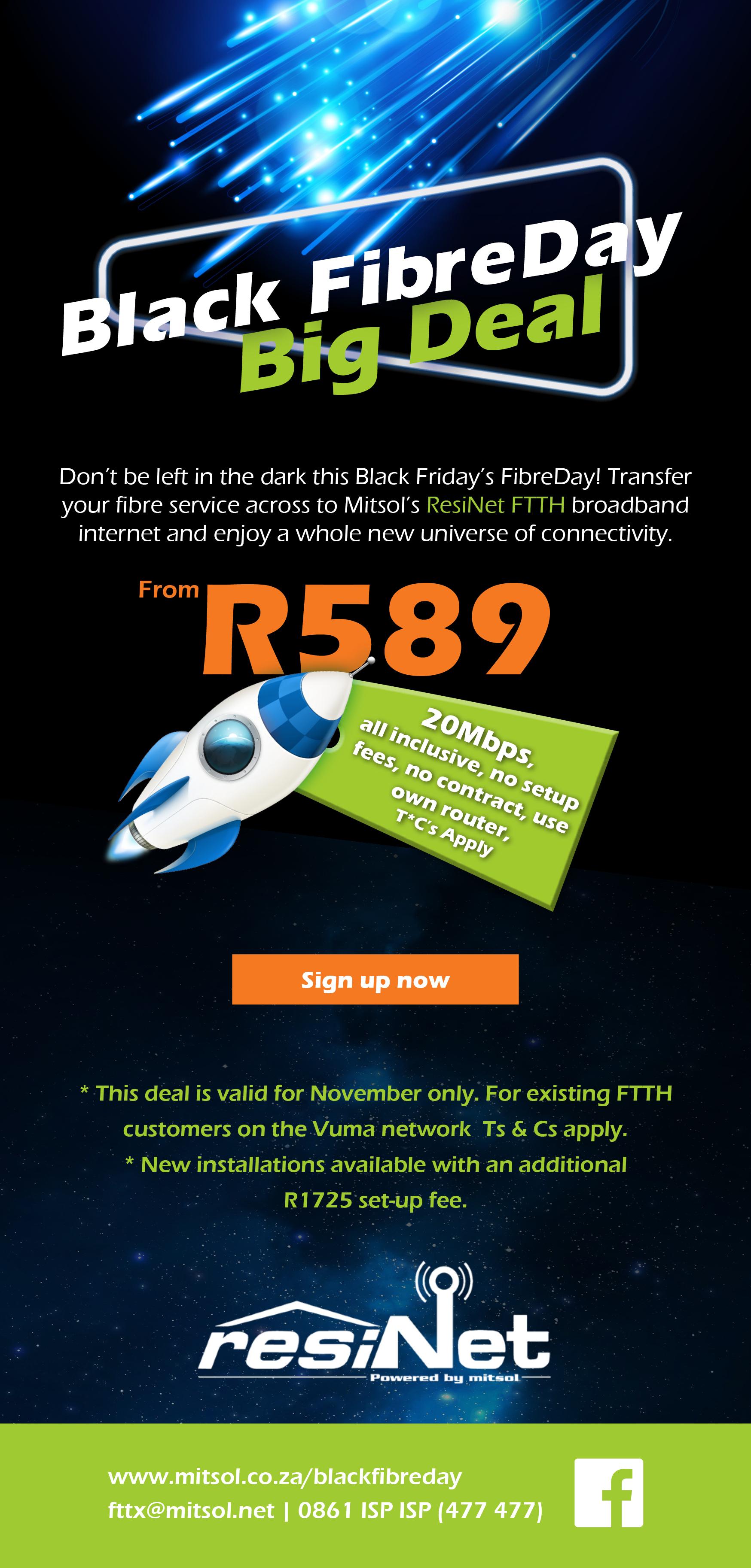 Black Fibre Day Big Deal - Black Friday